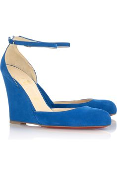 Rocaille 100 suede wedges by Christian Louboutin