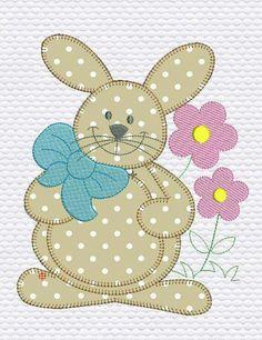 Patchwork Diy Log Cabins 18 New Ideas Applique Templates, Applique Patterns, Applique Designs, Embroidery Designs, Patchwork Quilting, Applique Quilts, Girls Quilts, Baby Quilts, Rabbit Crafts