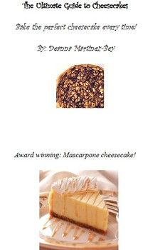 New mini e-book release: The ultimate guide to cheesecakes
