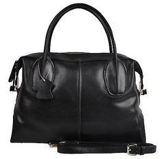 VNL black women leather handbags tote shopper shoulder bags satchel purse hobo