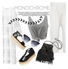 """Spring Monochrome"" by clotheshawg ❤ liked on Polyvore featuring H&M, Skin, Gucci and monochrome"