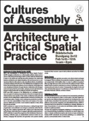 Cultures Of Assembly, newspaper, 2012