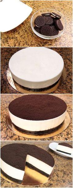 Torta de Oreo QUE NAO VAI AO FORNO #torta #tortafacil #tortarapida #tortadeoreo #oreo #sobremesa #sobremesas #doces #doce