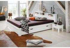 Home affaire Bett , weiß, FSC-Zertifikat, Toddler Bed, Interior Design, Storage, Home Decor, Products, Furniture Ideas, Facebook, White Queen Bed, Set Of Drawers