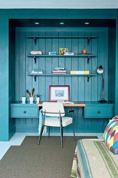 Un bureau dans une alcôve - Marie Claire Maison