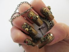 Steampunk Nails (Now Available) by ~JofoKitty on deviantART