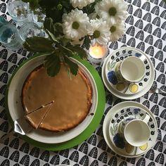 Juhannuskahville!  #juustokakku #kinuski #paratiisi #iittala #kahviaika #juhannus #midsummer #cheesecake #cake #coffeetime