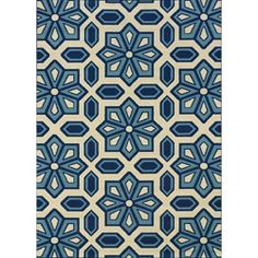 @Overstock - This geometric design indoor/outdoor area rug will add beauty to your outdoor spaces and features shades of blue and white. This durable polypropylene rug will endure the elements and continue to look great for many years.http://www.overstock.com/Home-Garden/Catalina-Ivory-Blue-Outdoor-Area-Rug-67-x-96/6233349/product.html?CID=214117 $131.74