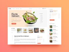 Hi Dribbble-er! This is the layout of the blog post, the purpose is to provide information and review of Vietnamese special dishes for foreign tourists. User: American tourists Language: English U...