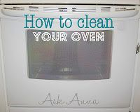 Ask Anna...: Day #10: Cleaning the Oven