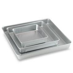 Wilton® 3-Piece Square Cake Pan Set - BedBathandBeyond.com
