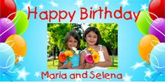 Personalize this colorful banner for his/her special day. Upload your favorite photo for an impressive creation. Happy Birthday Maria, Personalized Birthday Banners, Party Banners, Special Day, Party Themes, Teen, Kids, Colorful, Young Children