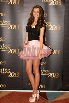 Miss Slovakia 2013 wearing Isabella pink petti skirt Tutu, Cheer Skirts, Skater Skirt, Ballet Skirt, Womens Fashion, Pink, How To Wear, Tutus, Skater Skirts