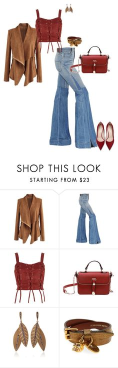 """""""Untitled #9472"""" by erinlindsay83 ❤ liked on Polyvore featuring Chicwish, Roberto Cavalli, River Island, Madhuri Parson and Alexander McQueen"""