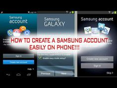 How to Create a Samsung Account Easily on Phone 2016