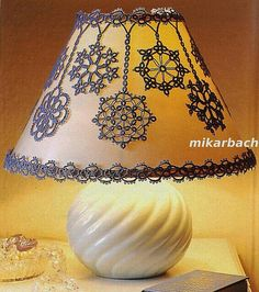 crochet decor lamp
