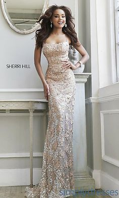 Long Open Back Lace Formal Gown at SimplyDresses.com