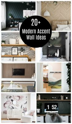 Stunning Accent Wall Ideas that anyone can do! Unique feature wall ideas including moulding walls, wallpaper, paint, sharpies, and more! Accent Walls In Living Room, Accent Wall Bedroom, Living Room Colors, Feature Wall Living Room, Wooden Accent Wall, Wood Slat Wall, Wallpaper Harry Potter, Dining Room Wallpaper, Herringbone Wall