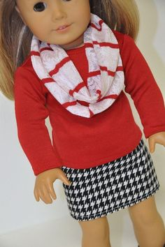 American Girl Doll Clothes - Red and Houndstooth by CircleCSewing... RTR