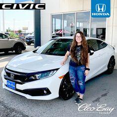 Congratulations Angel on your recent purchase of a NEW 2019 Honda Civic Sport! Click the pic to check out our complete inventory of new Honda Civic's. Contact Honda Sales Associate Dustin Carter at Honda Civic Vtec, Honda Civic Sport, Honda Civic Coupe, Honda S2000, Honda Civic For Sale, New Honda, Jdm Subaru, Subaru Impreza, Cars