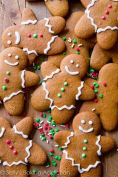 My Favorite Gingerbread Men Recipe - Soft in the centers, crisp on the edges, perfectly spiced, molasses and brown sugar-sweetened holiday goodness.