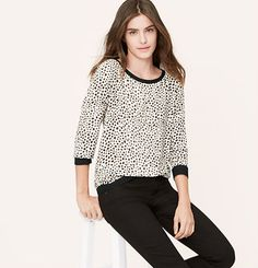 Blurred Animal Spot Blouse