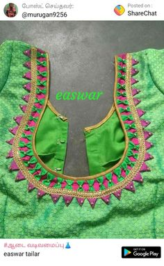 Churidar Neck Designs, Saree Blouse Neck Designs, Dress Neck Designs, Sari Blouse, Patch Work Blouse Designs, Simple Blouse Designs, Stylish Blouse Design, Designer Blouse Patterns, Champagne Popsicles