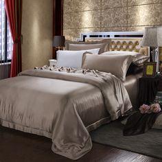 19 Momme Silk Sheets Silk Bedding, Duvet Bedding, Bedding Sets, Silk Sheets, Flat Sheets, Gold Bedroom, Dream Bedroom, Bedroom Decor, Yurts