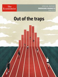 Cover for Emerging Markets Report   / The Economist ©Benedetto Cristofani, all right reserved #Theeconomist #magazine #emergingmarkets #economy #financial #runner #illustration #editorial #editorialillustration #conceptual #conceptualillustration #graphic #graphicdesign