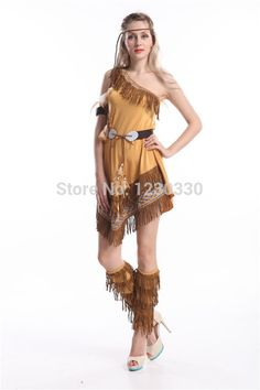 walson selling well Ladies Pocahontas Native American Indian Wild West Fancy Dress Party Costume indian costume plus size s-2xl