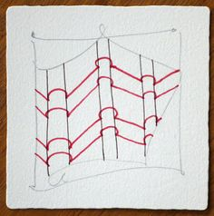 Zentangle - start with random parallel lines indicating inner and outer folds or curves, add in the banding (in wide aura style, resonant with static). Then, enhance those bands (or not) with tangles you already know and love.