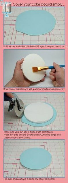 How to cover cake boards