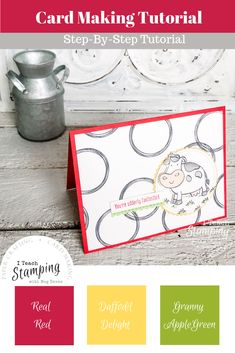 "Make this adorable card using your ""staple supplies"" and a few POP items. See all the details by clicking through. Alcohol Markers, Card Making Tutorials, Bird Cards, All Paper, Animal Cards, Scrapbook Cards, Scrapbooking, Ink Pads, Stamping Up"