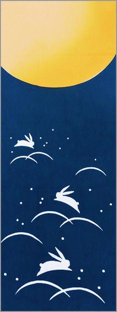 Tsukimi Usagi, moon-viewing rabbit Asian New Year, Festival Paint, Rabbit Pictures, Autumn Illustration, Mooncake, Rabbit Art, Bunny Art, Mid Autumn Festival, Japan Art