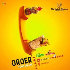 The Kebab Express food poster – Dinner Food Restaurant Advertising, Food Advertising, Creative Advertising, Print Advertising, Advertising Campaign, Print Ads, Post Design, Ad Design, Exhibit Design