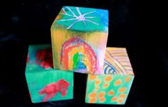 Beautiful Art Blocks: Melted Crayon on... WOOD! absolutely beautiful, make your own building blocks