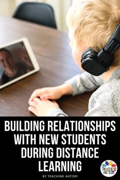 Building relationships with our students is one of the most important things we can do as educators. But how do we do it through online and distance learning? Let me help you. Social Stories Autism, Autism Resources, Teaching Resources, Back To School Activities, Hands On Activities, Classroom Activities, Autism Teaching, Self Contained Classroom, Special Education Classroom