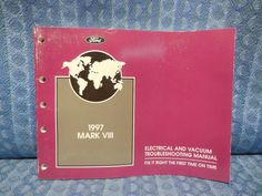 1997 lincoln town car original oem shop service manual 2 volume 1997 lincoln mark viii oem electrical vacuum troubleshooting manual publicscrutiny Gallery