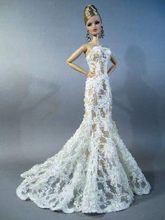 Eaki Dress Outfit Gown Silkstone Barbie Fashion Royalty Candi Wedding Bride FR2 | eBay