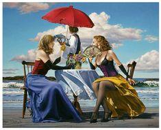 Paintings I Love, Painting Prints, Art Prints, Creation Photo, Fashion Artwork, Red Umbrella, Realism Art, Canadian Artists, Figure Painting
