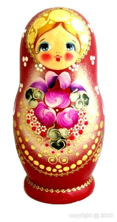 Matriochka - Fleurs - Cadeau Russe