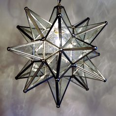 Quintana Roo 9640M-SS Glass Moravian Star Pendant at ATG Stores
