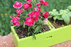 DIY LEGO Planter - fun and creative project for kids and adults, love it. #Planting #Flowers #Garden