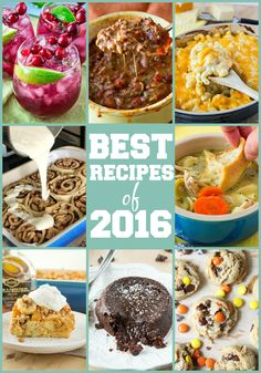 The best (and most popular) recipes from Certified Pastry Aficionado in 2016!