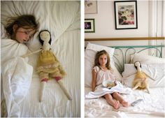 via blossom blog  Can you tell - I just love this doll!!!!