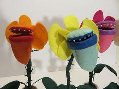 Plush Stuffed Doll Sculpture Carnivorous Plants Venus Flytrap Death Orchid