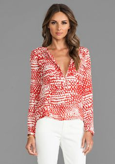 PARKER Marissa Blouse in Strawberry Tulip - Parker $198