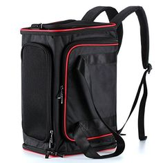 Okbuynow Extendable Pet Carrier Soft-Sided Travel Backpack/Handbag/Shoulder Bag for Dogs and Cats-Enhanced Version >>> Click image for more details. (This is an affiliate link) Dog Travel Carrier, Cat Backpack Carrier, Dog Backpack, Dog Carrier, Travel Backpack, Shoulder Handbags, Shoulder Bag, Pet Paws, Pet Carriers