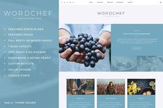 WordChef - A WordPress Blog Theme by ThemeFeeder on @creativemarket