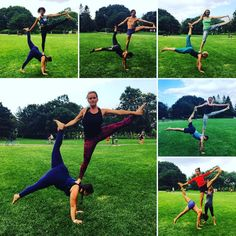 """18 Me gusta, 3 comentarios - Jill Campbell (@jillacroyoga) en Instagram: """"At tonight's jam this counterbalance spread like wildfire... So much fun to see all the expressions…"""""""